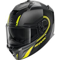 Shark Spartan GT Tracker Helmet (Matt Grey/Black/Yellow)