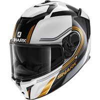 Shark Spartan GT Tracker Helmet (White/Gold)