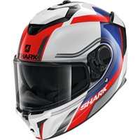 Shark Spartan GT Tracker Motorcycle Helmet (White/Blue/Red)