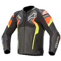 Atem v4 Leather Jacket (Black/Red/Yellow) by Alpinestars