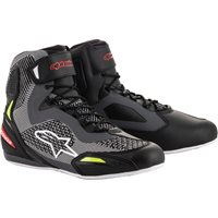 Alpinestars Faster 3 Rideknit Shoes (Black|Grey|Flo Red)