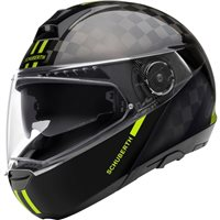 Schuberth C4 PRO Carbon Fusion Yellow Flip Front Helmet (Black/Yellow)