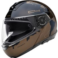 Schuberth C4 PRO Magnitudo Brown Flip Front Helmet (Black/Brown)