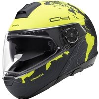 Schuberth C4 PRO Magnitudo Yellow Flip Front Helmet (Yellow/Black)