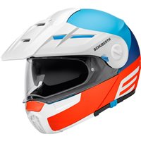 Schuberth E1 Cut Red Blue Flip Front Motorcycle Helmet