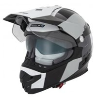 Spada Intrepid Adventure Helmet (Gloss Black/White/Grey )