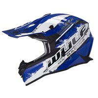 Wulfsport Off Road Pro Motocross Helmet (Blue)