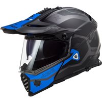 LS2 MX436 Pioneer Evo Cobra Off Road Helmet (Matt Black/Blue)