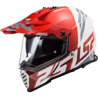 LS2 MX436 Pioneer Evo Evolve Off Road Helmet (Red/White)
