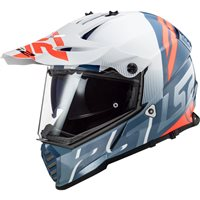 LS2 MX436 Pioneer Evo Evolve Off Road Helmet (White Cobalt)