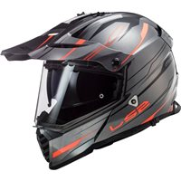 LS2 MX436 Pioneer Evo Knight Off Road Helmet (Titanium/Fluo Orange)
