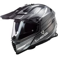 LS2 MX436 Pioneer Evo Knight Off Road Helmet (Titanium/White)