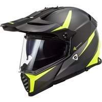 LS2 MX436 Pioneer Evo Router Off Road Helmet (Matt Black/Hi Vis Yellow)