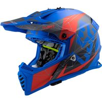 LS2 MX437 Fast Evo Alpha Off Road Helmet (Matt Blue)