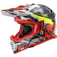 LS2 MX437 Fast Evo Crusher Off Road Helmet (Black/Red)