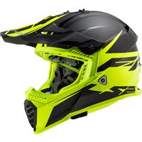 LS2 MX437 Fast Evo Roar Off Road Helmet (Matt Black/Hi Vis Yellow)