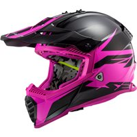 LS2 MX437 Fast Evo Roar Off Road Helmet (Matt Black/Purple)