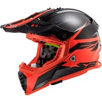 LS2 MX437 Fast Evo Roar Off Road Helmet (Matt Black/Red)