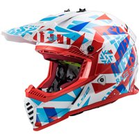 LS2 MX437J Fast Mini Evo Funky Kids Moto-X Helmet (Red/White)