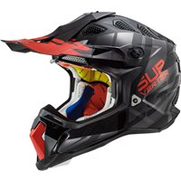 LS2 MX470 Subverter Troop Off Road Helmet (Matt Black/Red)