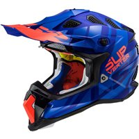 LS2 MX470 Subverter Troop Off Road Helmet (Matt Blue/Fluo Orange)