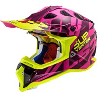 LS2 MX470 Subverter Troop Off Road Helmet (Matt Pink/Hi Vis Yellow)
