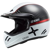LS2 MX471 Xtra C Carbon Yard Off Road Helmet (Carbon White/Red)