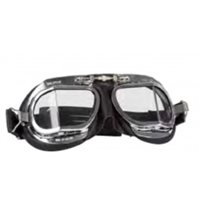 Halcyon Aviator Goggles MK9 Deluxe Curved Lens (Chrome|Black)