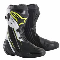 Alpinestars Supertech R Motorcycle Boot (Black|Flo Yellow|White)