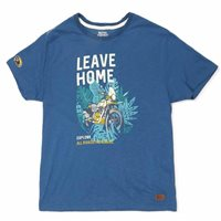 Royal Enfield Leave Home T-Shirt (Deep Teal)