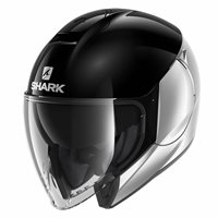 Shark CityCruiser Open Face Helmet (Duel Black/Silver)