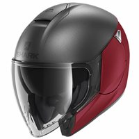 Shark CityCruiser Open Face Helmet (Dual Anthracite/Red)