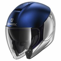 Shark CityCruiser Open Face Helmet (Dual Silver/Blue)