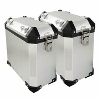 BikeTek Adventure Side Cases - Standard Shape (for standard exhausts) - 29L / 35L Pair
