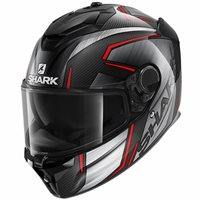 Shark Spartan GT Carbon Kromium Helmet (Black/Grey/Red)