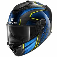 Shark Spartan GT Carbon Kromium Helmet (Black/Blue/Yellow)