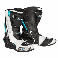 Spada Curve Evo WP Motorcycle Boots (White/Blue/Black)