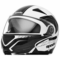 Spada Reveal Tracker Flip Front Helmet (White/Black)