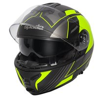 Spada Orion Whip Flip Front Helmet (Matt Black/Flo Yellow)