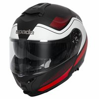 Spada Orion Pixel Flip Front Helmet (Matt Black/Red/White)
