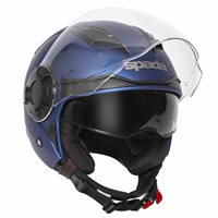 Spada Lycan Open Face Helmet (Matt Blue)