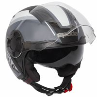 Spada Lycan Strobe Open Face Helmet (Matt Black/White)