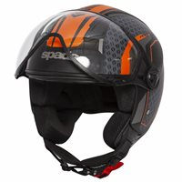 Spada Hellion Arrow Open Face Helmet (Black/Orange)