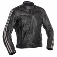 Richa Retro Race 3 Leather Jacket (Anthracite | Brown)