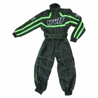 Wulfsport One Piece Kids Racing Suit (Green)