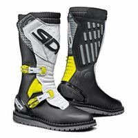 Sidi Trial Zero 2 CE Off-Road Motorcycle Boots (Black/Yellow/White)