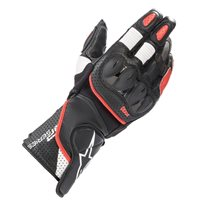 Alpinestars SP-2 v3 Motorcycle Gloves (Black/White/Bright Red)