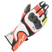 Alpinestars SP-2 v3 Motorcycle Gloves (White/Flo Red/Black)