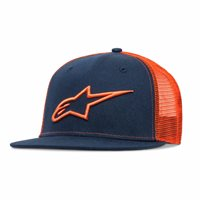 Alpinestars Corp Trucker Hat (Navy/Orange)