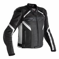 RST Sabre Airbag CE Leather Jacket 2529 (Black/White)